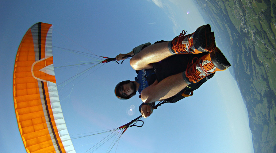 Paragliding with GoPro Hero