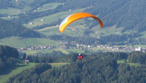 Gleitschirm Paraglider Tandem Bodensee Bregenzerwald